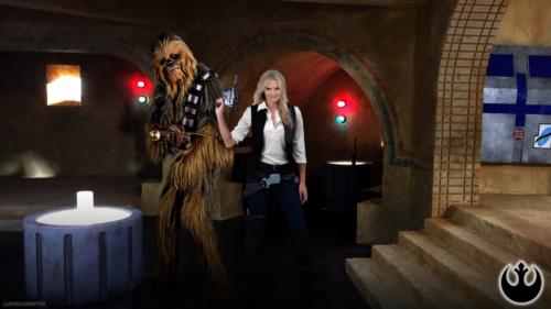Emma Swan as Han Solo